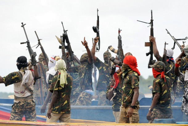Fighters with the Movement for the Emancipation of the Niger Delta (MEND)