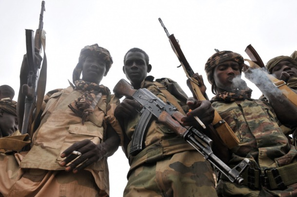 Men with guns in Chad