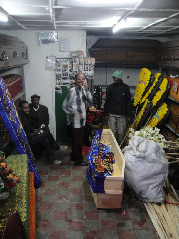 Coffin decorators in Addis Ababa