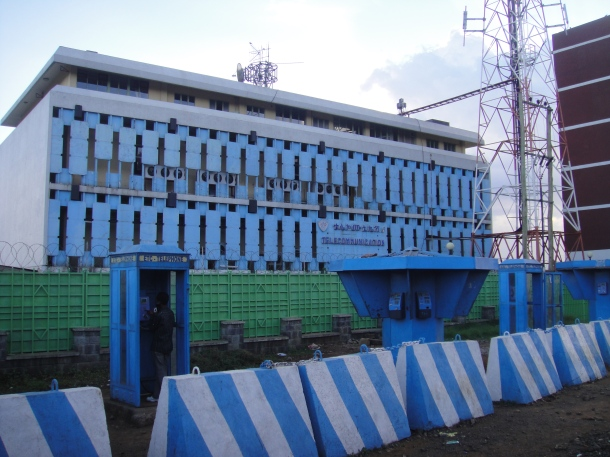 Telecomunications center in Addis Ababa