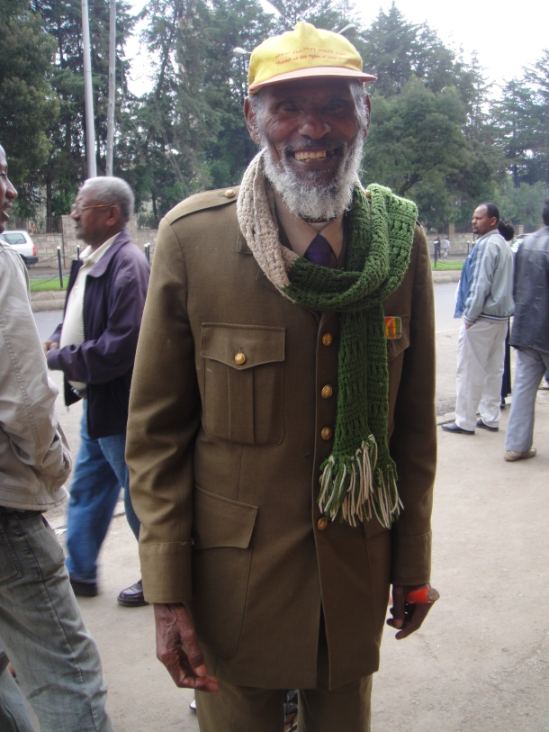 Retired soldier in Addis Ababa