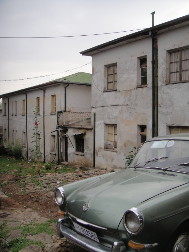 Home and old car in Addis Ababa