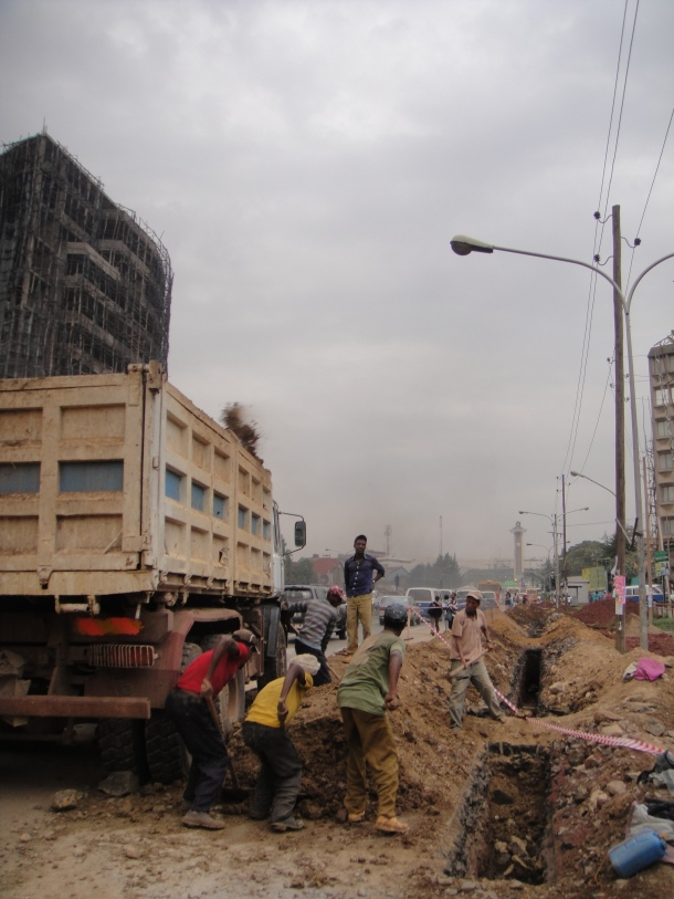 Roadwork in Addis Ababa