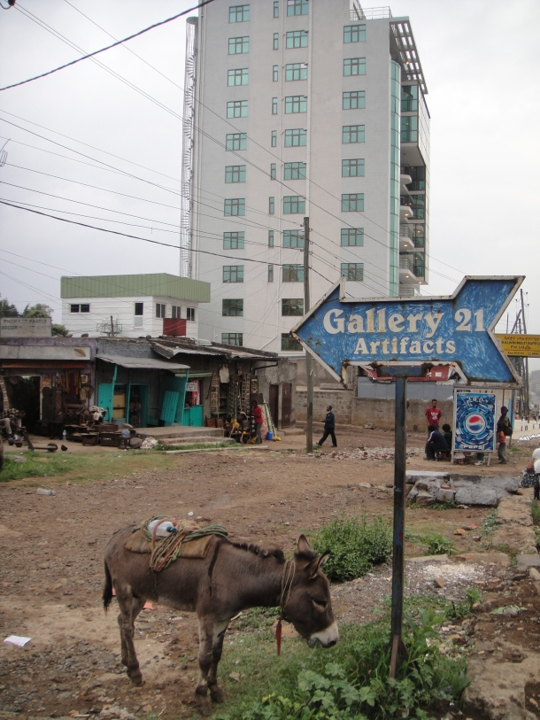 Donkey at Gallery 21 in Addis Ababa