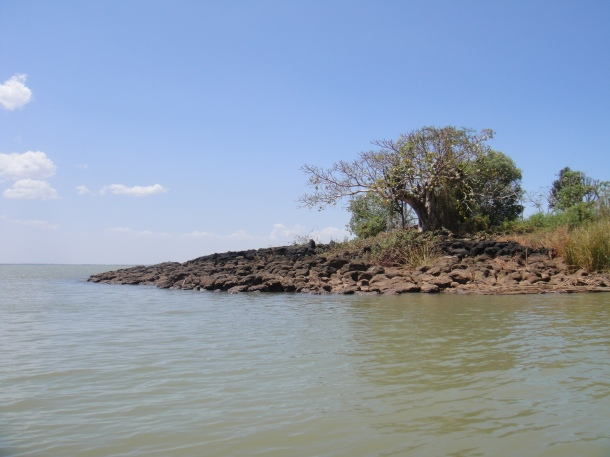 Entering the Blue Nile Outlet from Lake Tana