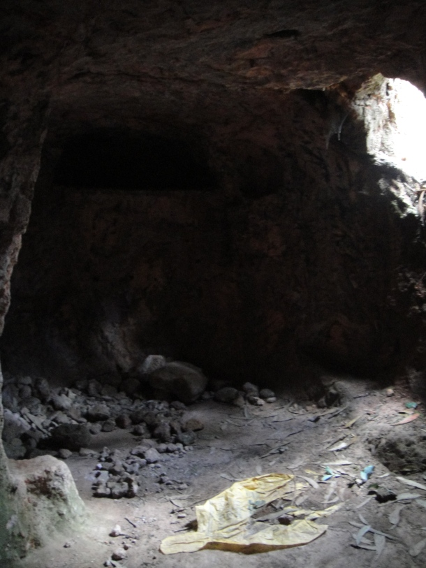 Outlaw's cave in Ethiopia