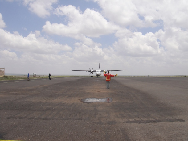 Our plane at Jijiga Airport