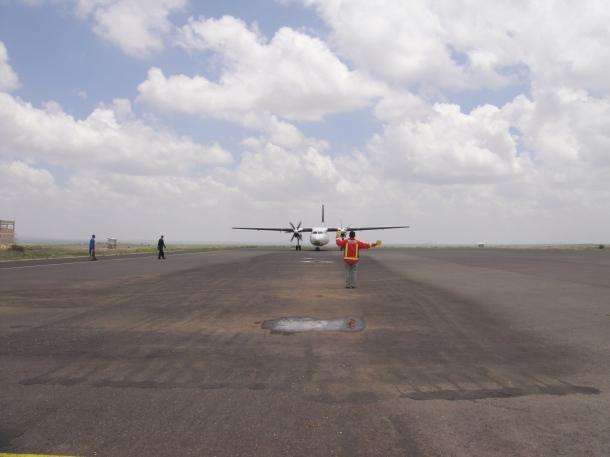Our plane at Jijiga Airport