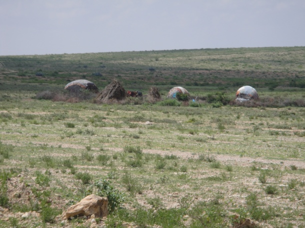 huts outside of jijiga