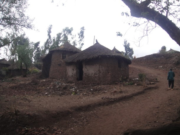 huts in Lalibela