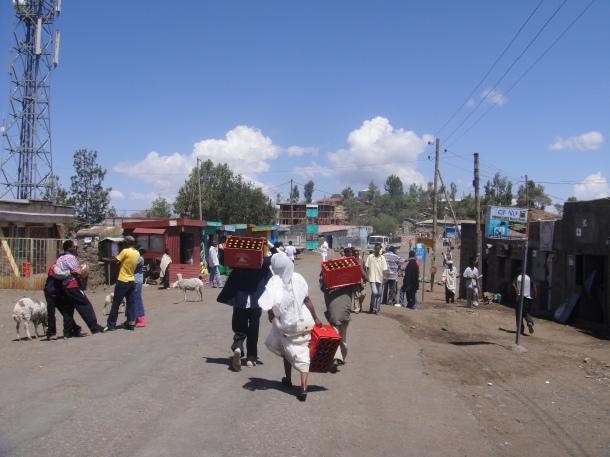 Main street Lalibela