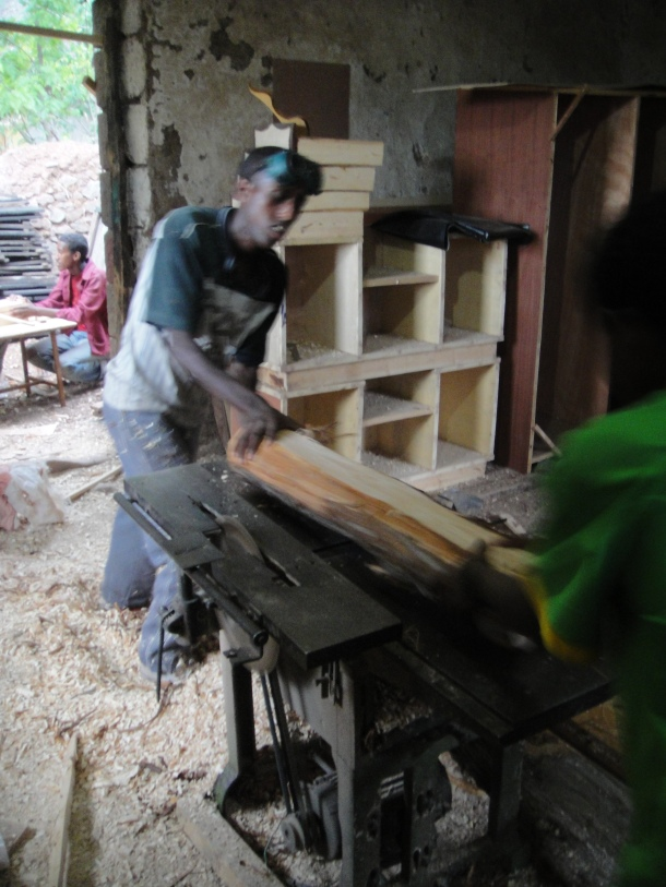woodworking in Lalibela