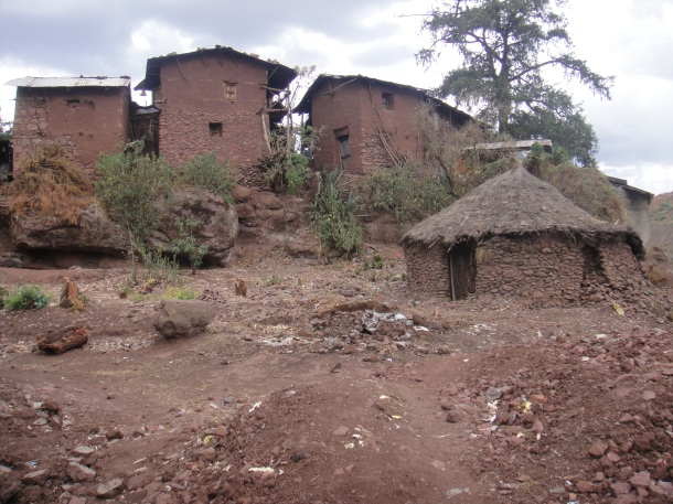 huts and homes in Lalibela