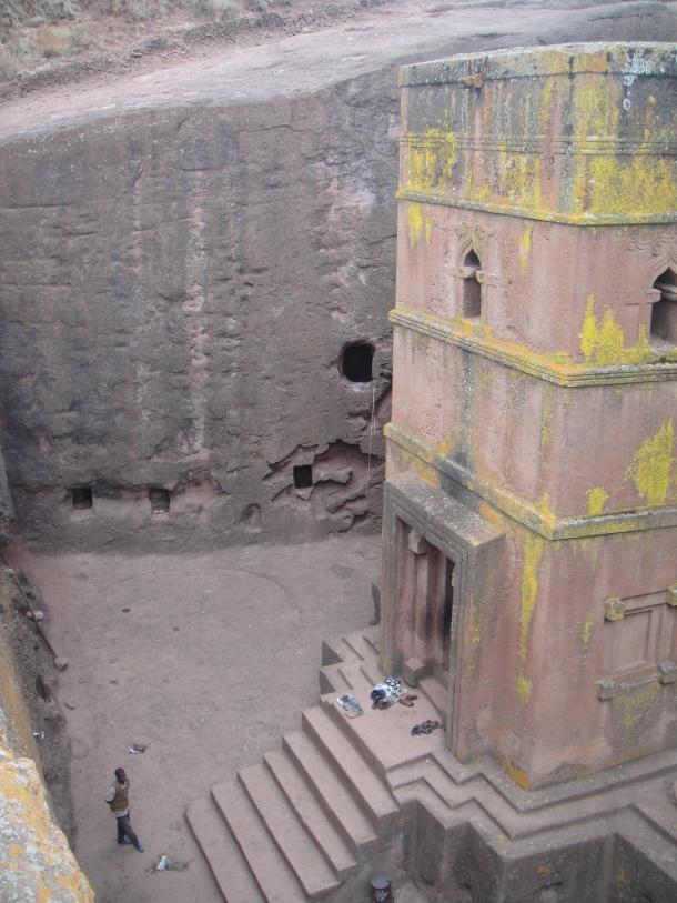 Another view down inside Bet Giyorgis