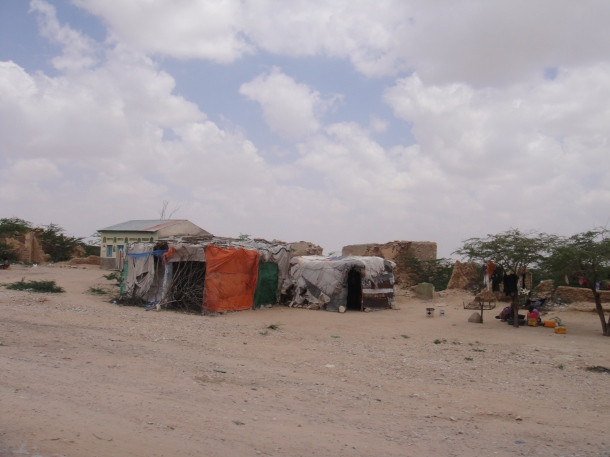 Primitive villages in Somalia
