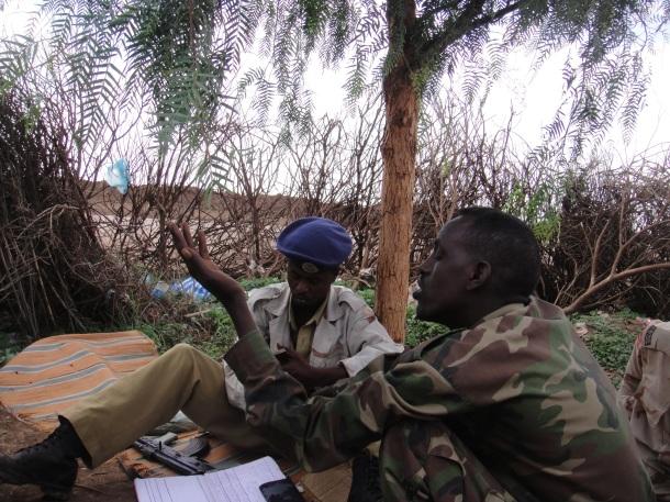 Somali border guards
