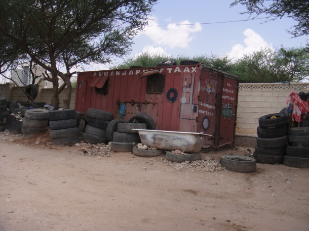 Small, primitive villages in Somalia