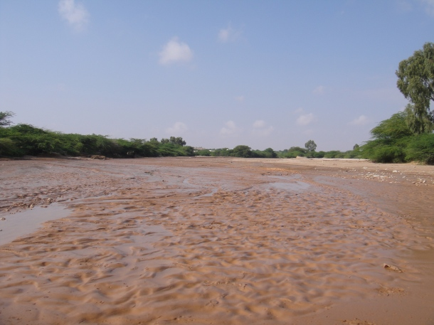 Crossing a wadi in rural Somalia