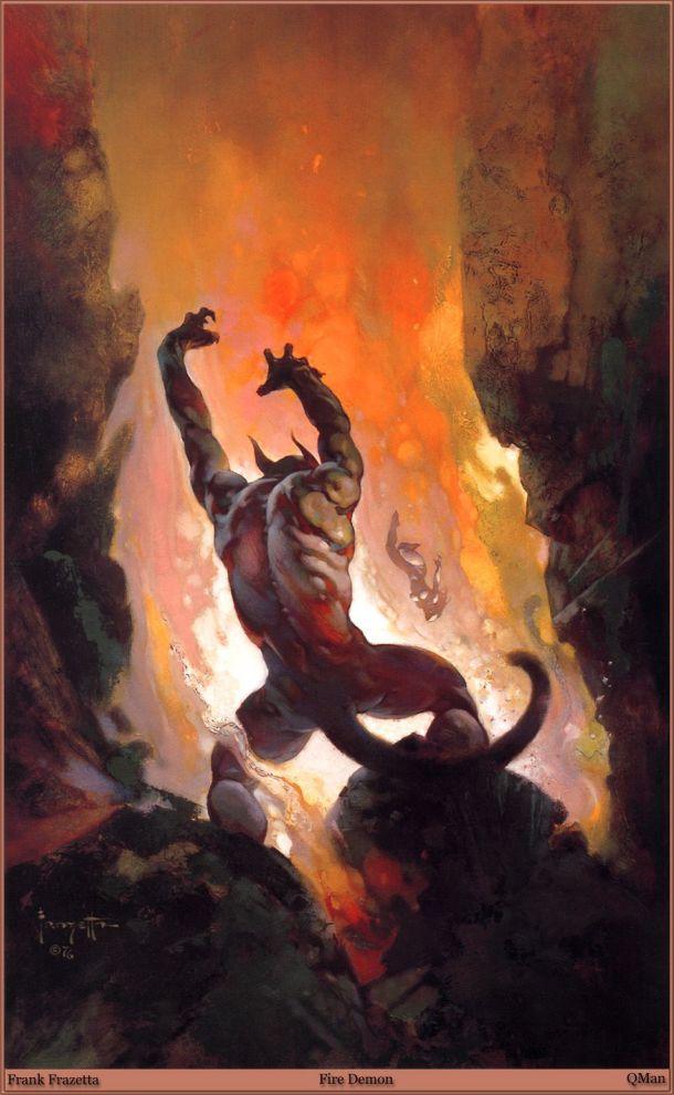 Fire Demon Frank Frazetta