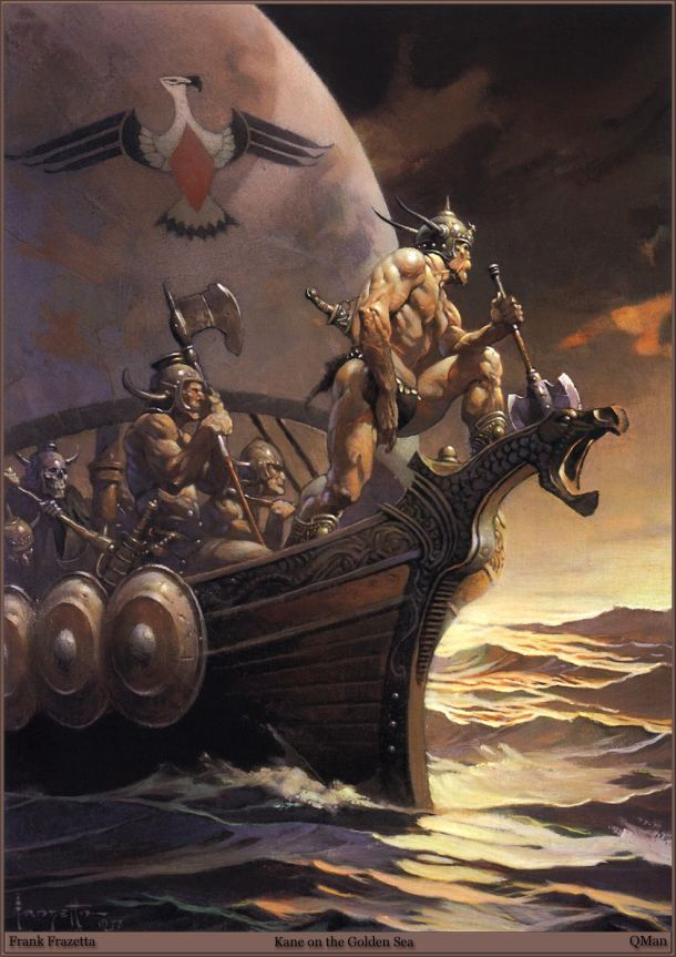 Frank Frazetta Kane on the Golden Sea