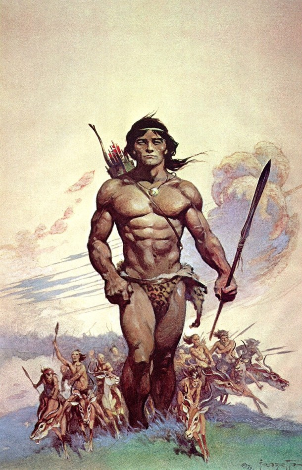 Frank Frazetta Tarzan and the Antmen