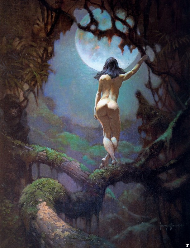 Frank Frazetta The Moon's Rapture