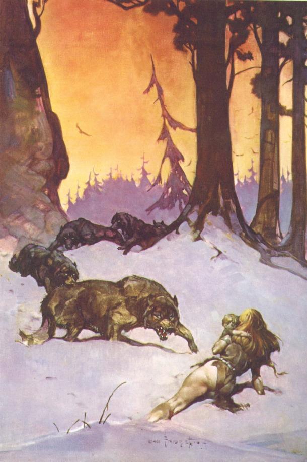 Frank Frazetta wolves