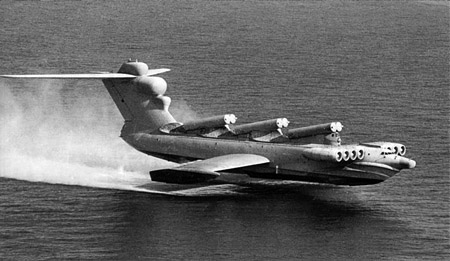 Soviet Lun-Class Ekranoplan Ground Effect Vehicle MD-160 Project 903