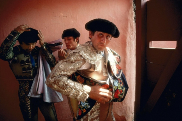 William Albert Allard, Three Bullfighters, Lima, 1981
