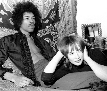Kathy Etchingham and Jimi Hendrix