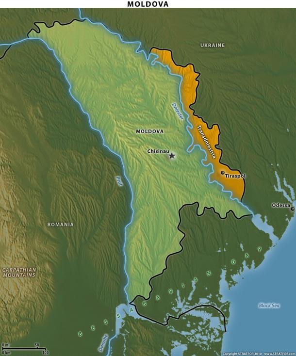 Moldova Map