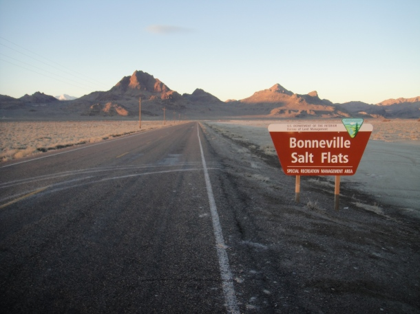 Bonneville Salt Flats sign