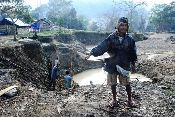 Myanmar gold mine