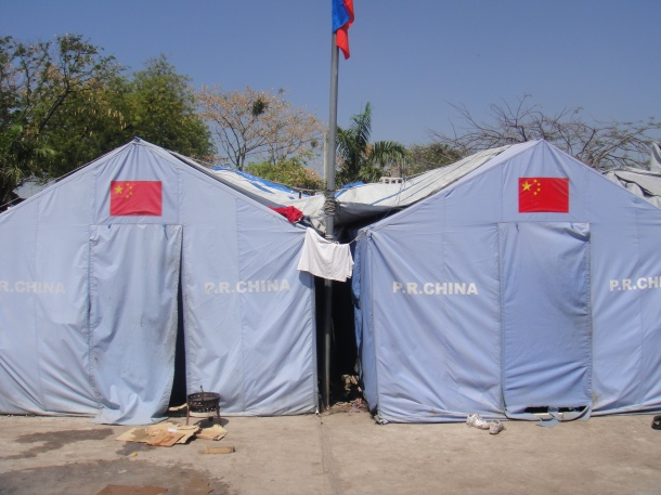 China tents Haiti