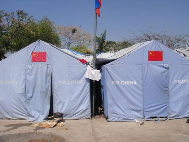China tents Haiti