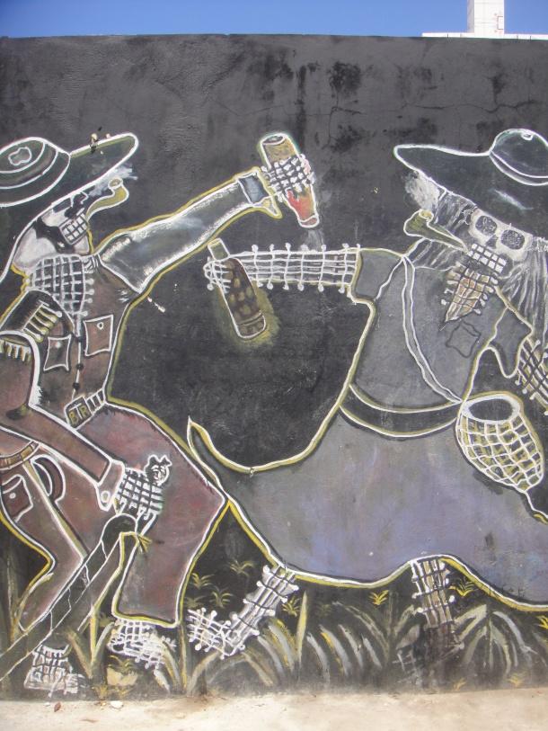 haiti voodoo mural