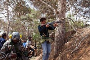 Photo Of The Day: Libyan Rebels Fighting In AdDafniyah