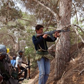 Photo Of The Day: Libyan Rebels Fighting In Ad Dafniyah