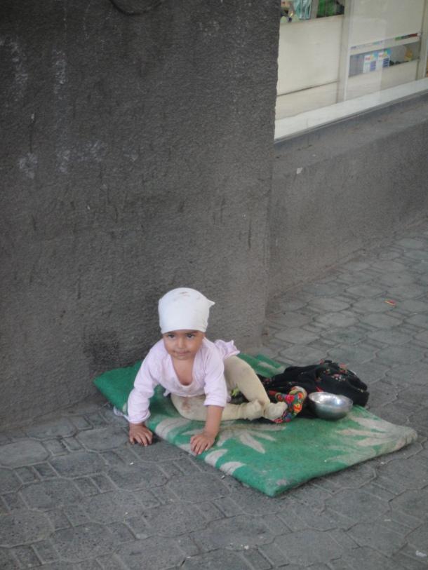abandoned gypsy baby