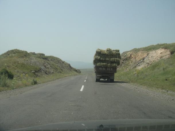 armenia hay truck