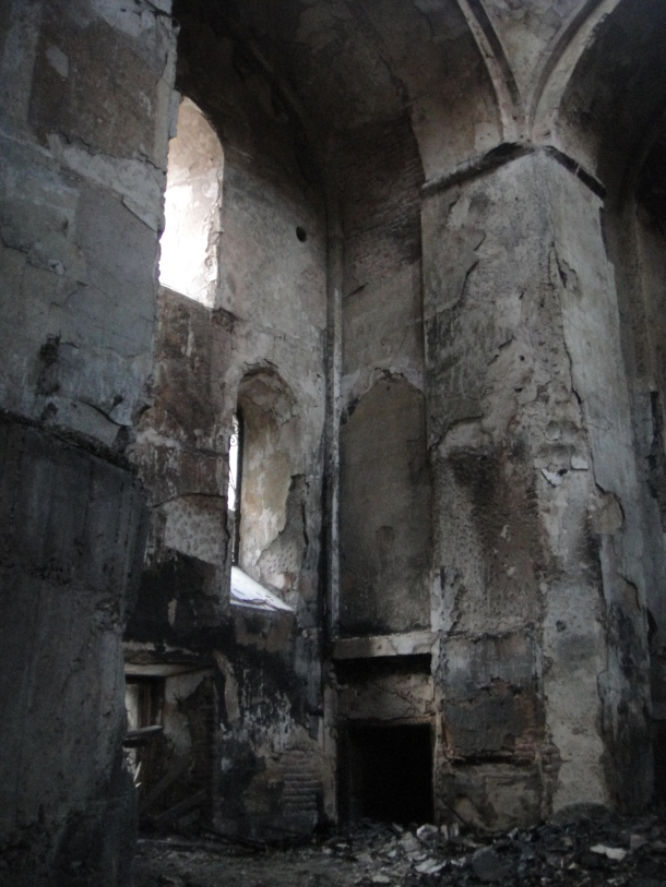 burned church tbilisi