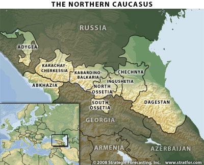 northern caucasus map