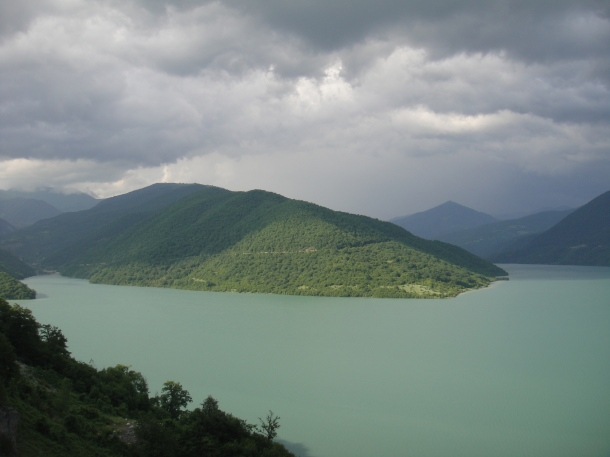 zhinvali lake georgia