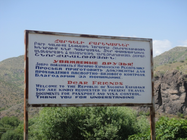nagorno-karabakh sign
