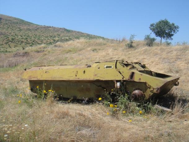 nagorno-karabakh war bombed apc