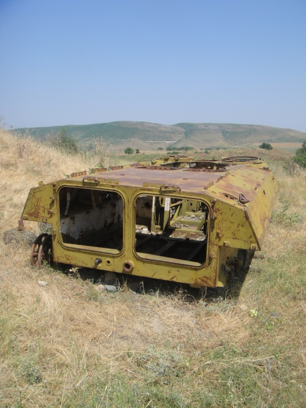 nagorno-karabakh war destroyed armored personnel carrier