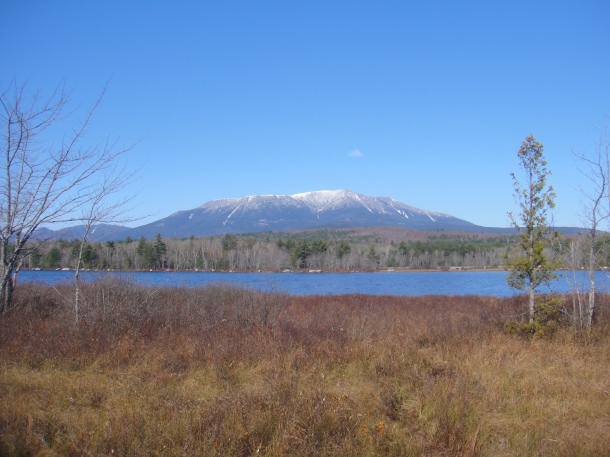 baxter state park from golden road