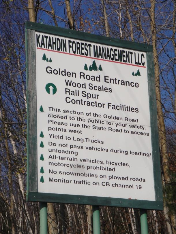 golden road sign