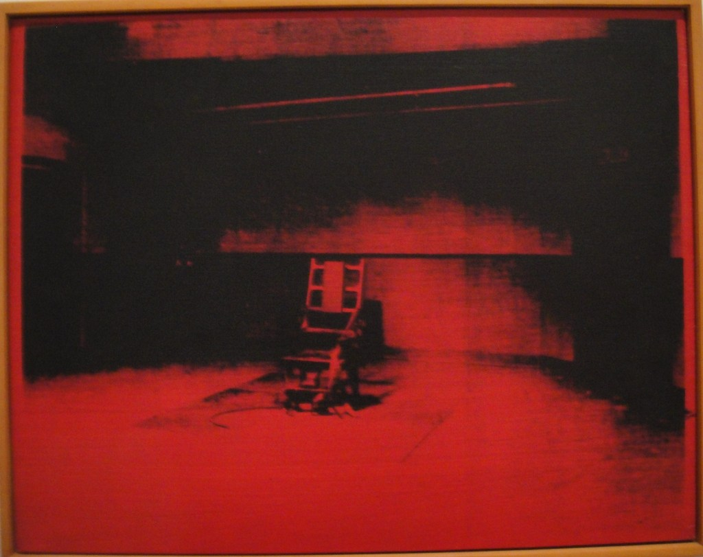 andy warhol electric chair red