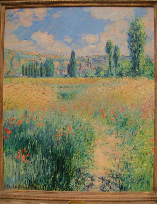 claude monet path on the island of saint martin vetheuil